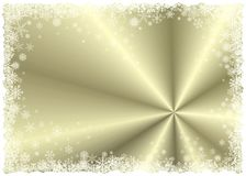 Blocco per grafici di inverno dell'oro Immagini Stock