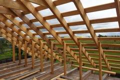 Blocco per grafici di legno del tetto Fotografia Stock