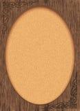 Blocco per grafici di legno del Victorian con zona ovale della foto Immagine Stock Libera da Diritti