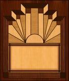 Blocco per grafici di legno dell'intarsio di art deco Fotografia Stock Libera da Diritti