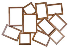 Blocco per grafici di legno della foto del Brown Fotografia Stock