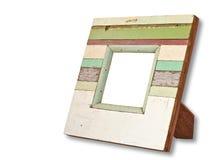 Blocco per grafici di legno nella priorità bassa bianca Fotografia Stock Libera da Diritti