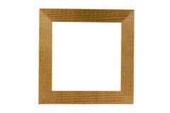 Blocco per grafici di legno semplice isolato su bianco, percorso di residuo della potatura meccanica Fotografia Stock