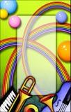 Blocco per grafici di musica del Rainbow Fotografie Stock