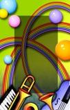 Blocco per grafici di musica del Rainbow Fotografia Stock