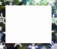 Blocco per grafici di natale con il fiocco di neve Fotografia Stock