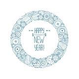 Blocco per grafici di nuovo anno felice Immagine Stock Libera da Diritti