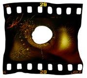 Blocco per grafici di pellicola fuso Fotografia Stock