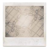 Blocco per grafici di pellicola istante Grungy con materiale da otturazione astratto Fotografia Stock