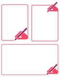 Blocco per grafici di scrittura illustrazione vettoriale