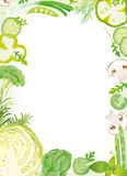 Blocco per grafici di verdure Fotografia Stock