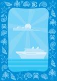 Blocco per grafici di viaggio per mare Immagine Stock
