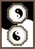 Blocco per grafici di Yin Yang Fotografia Stock Libera da Diritti