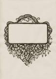 Blocco per grafici disegnato a mano nello stile dell'annata Immagini Stock Libere da Diritti