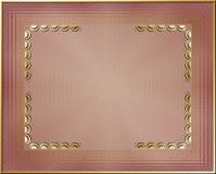 Blocco per grafici dorato illustrazione vettoriale