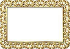 Blocco per grafici dorato Fotografia Stock