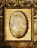 Blocco per grafici dorato Fotografie Stock Libere da Diritti