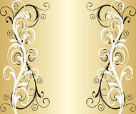 Blocco per grafici dorato astratto Fotografia Stock Libera da Diritti