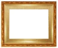Blocco per grafici dorato classico Fotografia Stock Libera da Diritti