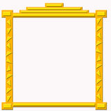 Blocco per grafici dorato decorativo royalty illustrazione gratis