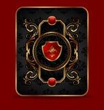 Blocco per grafici dorato decorativo decorato Fotografia Stock