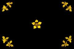 Blocco per grafici dorato del fiore Fotografia Stock Libera da Diritti