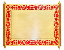 Blocco per grafici dorato del metallo Immagine Stock Libera da Diritti
