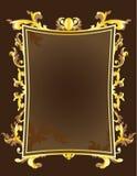 Blocco per grafici dorato dell'annata Fotografia Stock