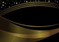 Blocco per grafici dorato e nero Fotografie Stock