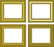 Blocco per grafici dorato isolato su priorità bassa bianca Immagini Stock