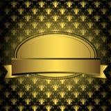 Blocco per grafici dorato ovale Fotografia Stock