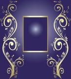 Blocco per grafici dorato per testo Fotografia Stock