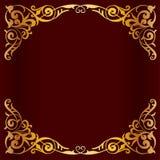 Blocco per grafici dorato reale per il disegno Fotografia Stock