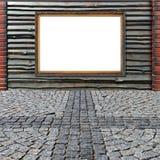 Blocco per grafici dorato sulla rete fissa di legno molto speciale Fotografie Stock