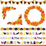 Blocco per grafici e riga di Halloween Fotografie Stock