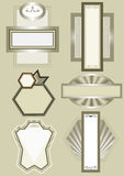 Blocco per grafici elegante con l'ornamento etnico. Frame.Ban della decorazione Fotografia Stock
