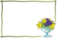 Blocco per grafici elegante con vetro dell'uva Immagine Stock