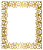 Blocco per grafici elegante dell'oro Immagine Stock Libera da Diritti