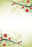 Blocco per grafici floreale Immagini Stock