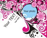 Blocco per grafici floreale Fotografie Stock