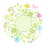 Blocco per grafici floreale. Immagine Stock Libera da Diritti