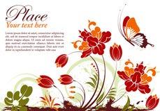 Blocco per grafici floreale Fotografia Stock