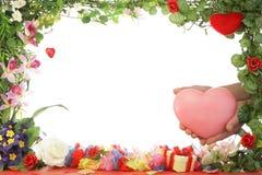 Blocco per grafici floreale. immagini stock