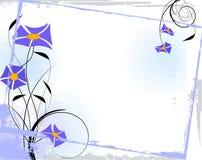 Blocco per grafici floreale blu Fotografie Stock