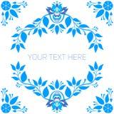 Blocco per grafici floreale blu Fotografia Stock