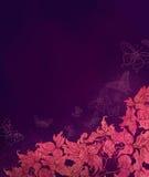 Blocco per grafici floreale con i butterflys Royalty Illustrazione gratis