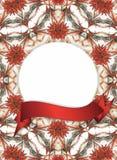 Blocco per grafici floreale con la bandiera rossa Immagini Stock