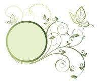Blocco per grafici floreale con la farfalla Fotografie Stock Libere da Diritti