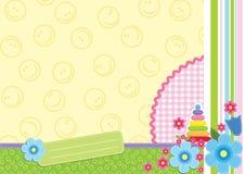 Blocco per grafici floreale del bambino Fotografia Stock