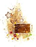 Blocco per grafici floreale dell'acquerello royalty illustrazione gratis
